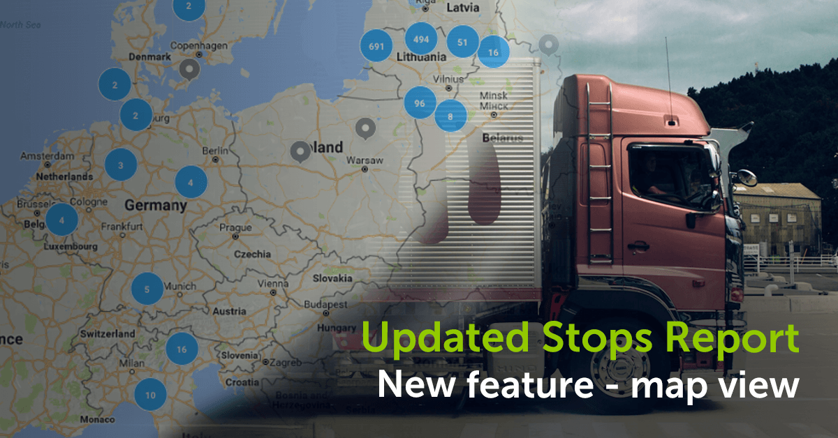 New feature in Stops Report – a map view!