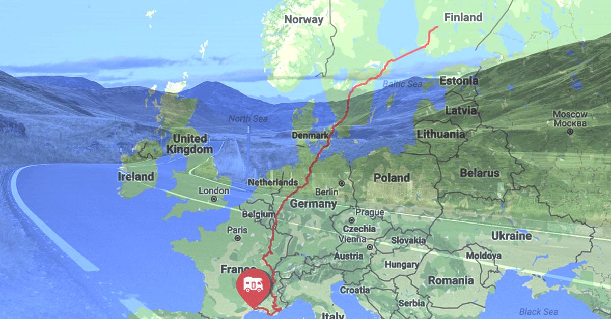 Mapon tarjoaa Matkapatonki-blogistien reittitiedot ympäri Eurooppaa
