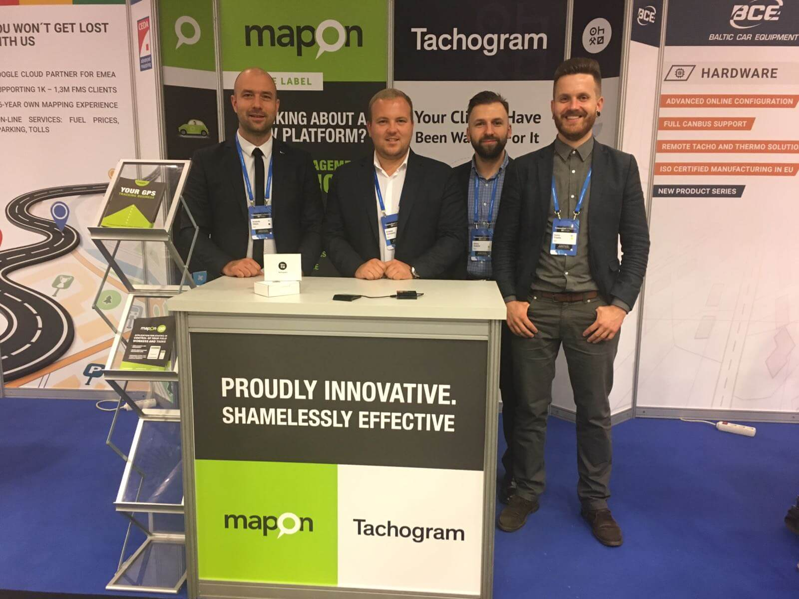 Mapon and Tachogram showcases at one of the biggest telematics conferences in Europe