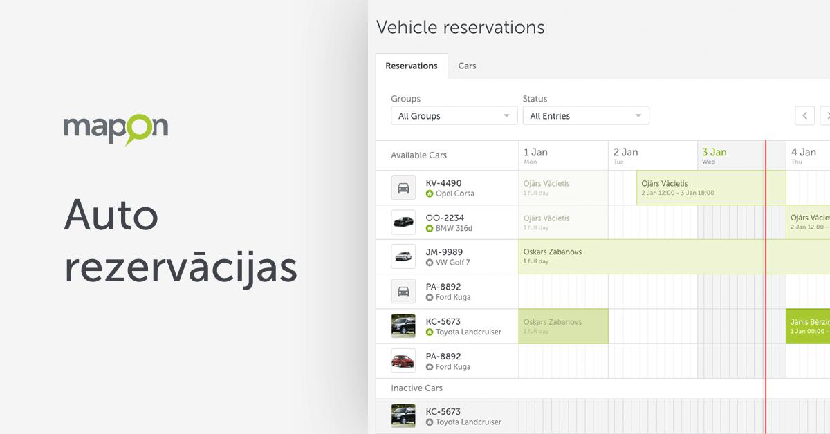 Efektīvi pārvaldiet uzņēmuma koplietošanas automašīnas ar auto rezervācijām!