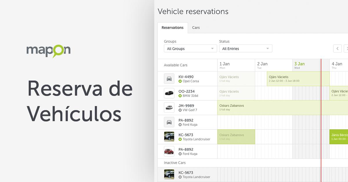 Reserva de vehículos: ahorre tiempo y ahorre costes del control de su flota