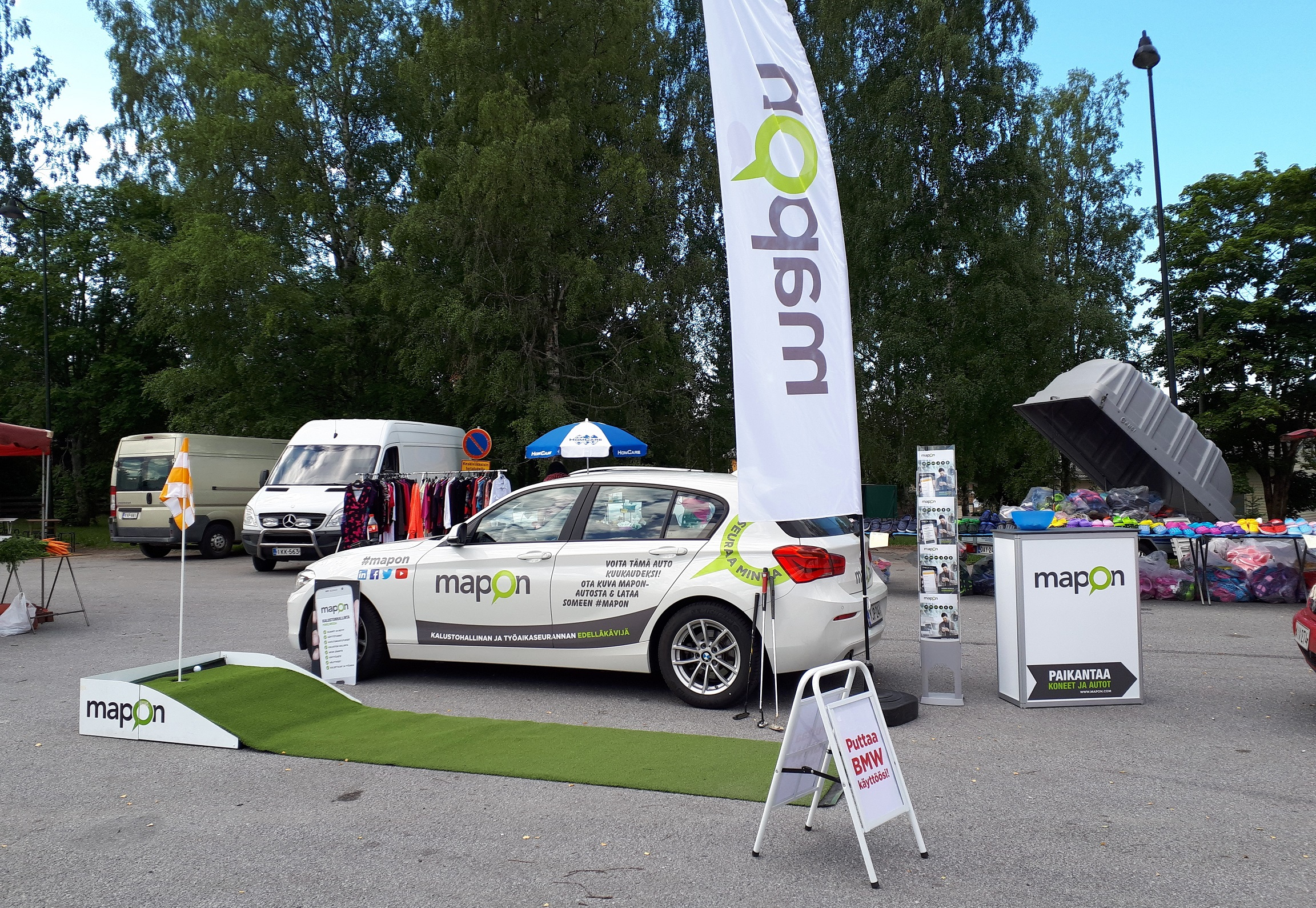 Mapon Golf Roadshow Ikaalisten kirkkotorilla