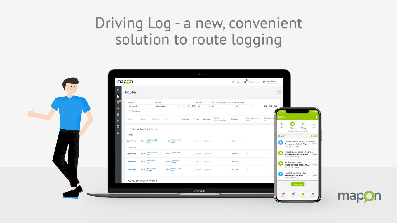 Driving Log – a new, convenient solution to route logging