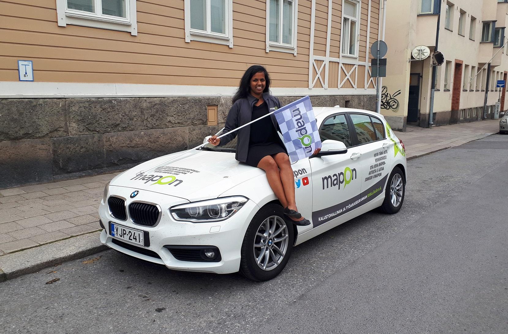 Ihastuttava Maria Lahtonen on aloittanut Turussa Maponin myyntipäällikön työt!