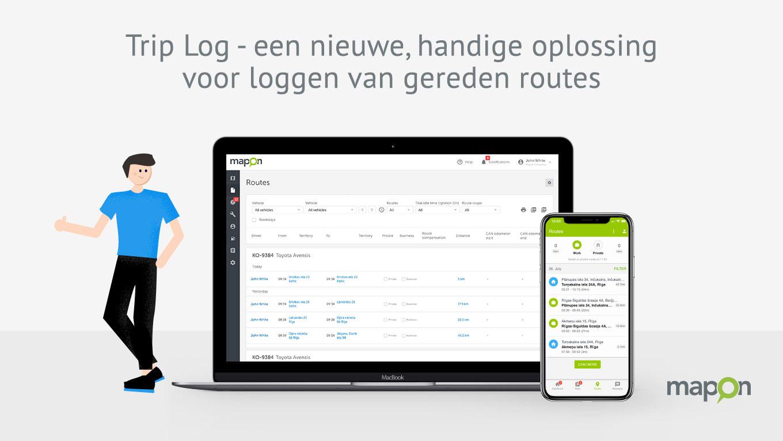 Trip Log – een nieuwe, handige oplossing voor loggen van gereden routes