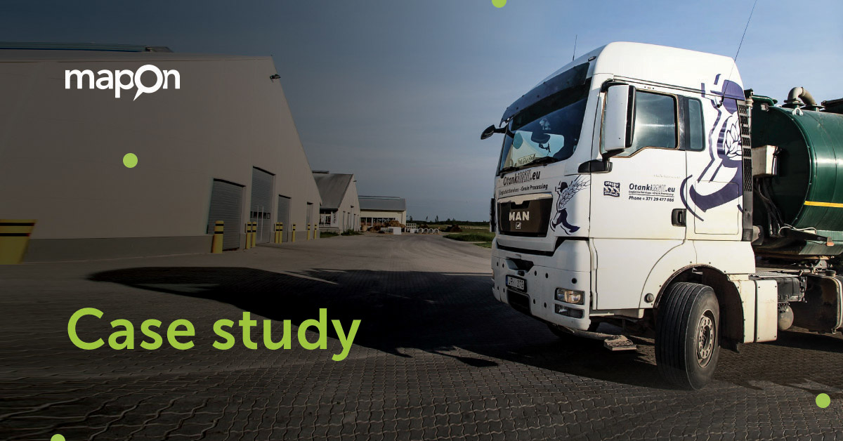 Fleet fuel consumption reduced by 10% using Mapon solutions
