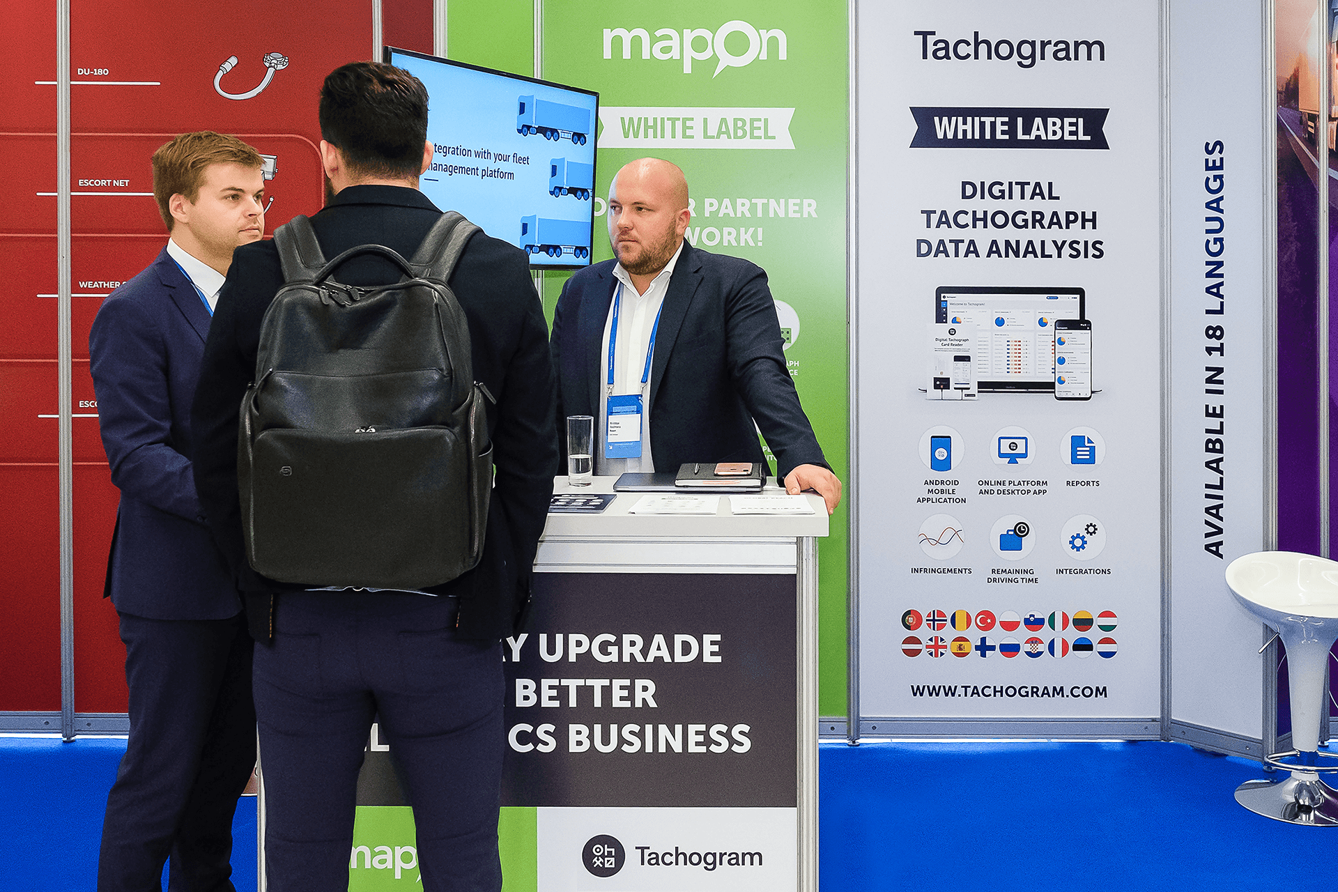 Mapon building partnerships at Telematics Conference in Prague