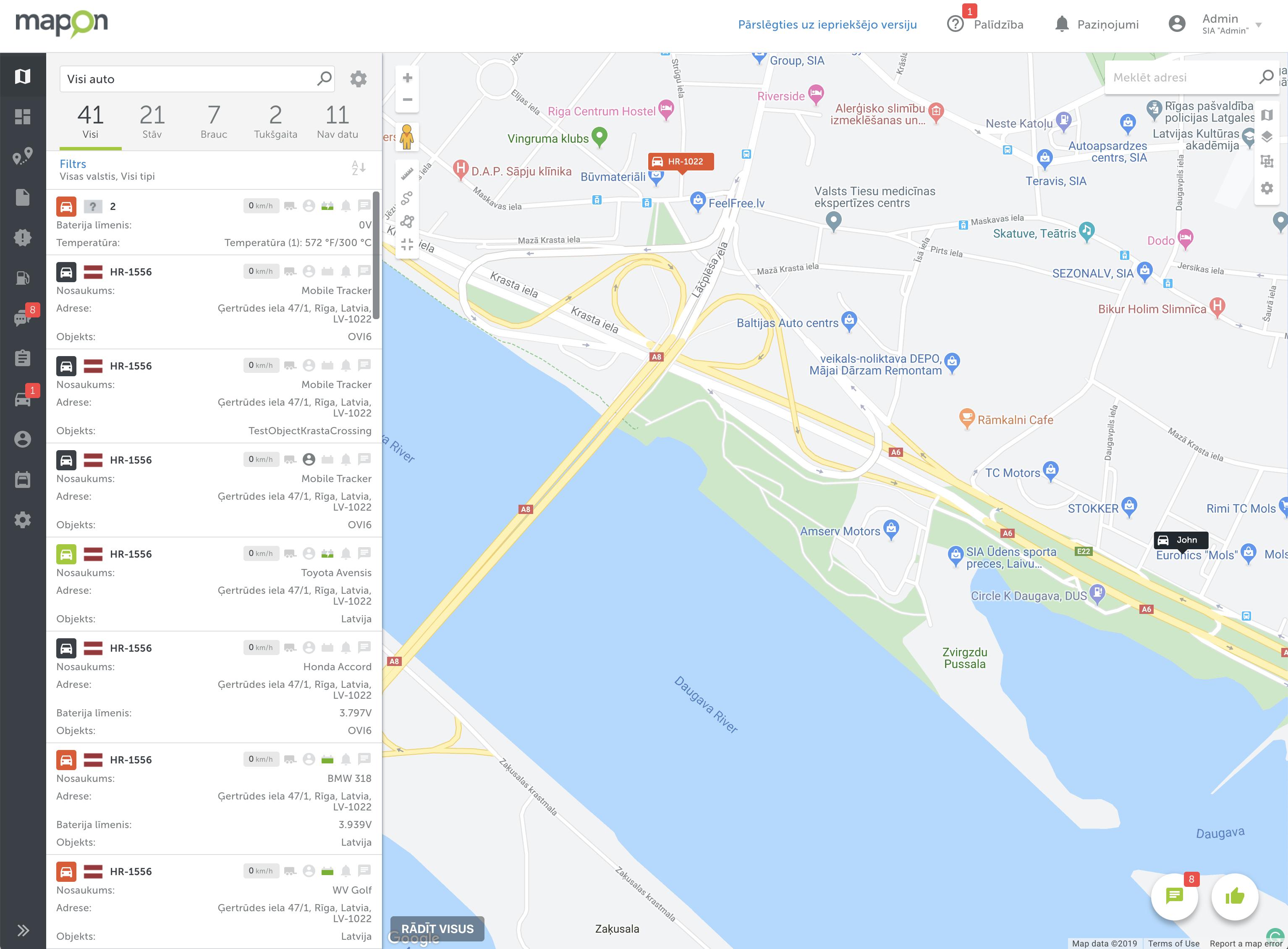 Mapon kartes sadaļa