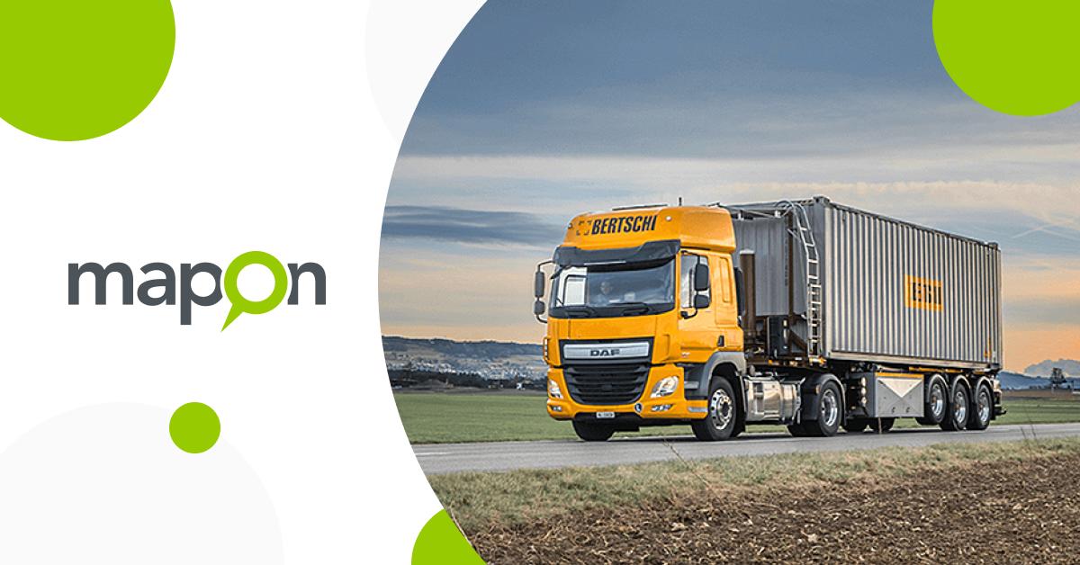 Sveitsiläinen kuljetusyritys Bertschi AG parantaa kuljettajien koulutusta ja toimitusketjun näkyvyyttä käyttämällä Maponin ratkaisuja