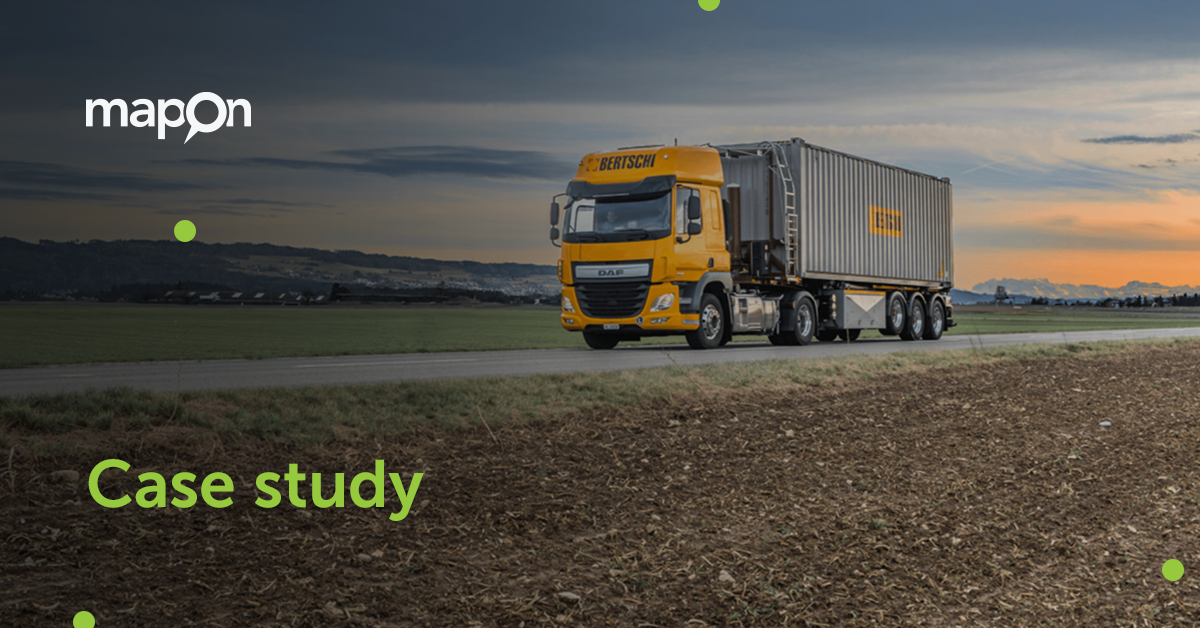 Bertschi AG improves driver training and supply chain visibility using Mapon's solutions