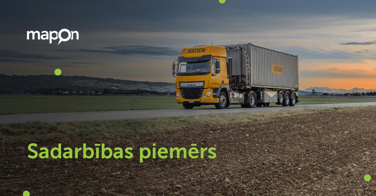 Bertschi AG uzlabo autovadītāju apmācības un piegādes ķēdes caurskatāmību, izmantojot Mapon risinājumus