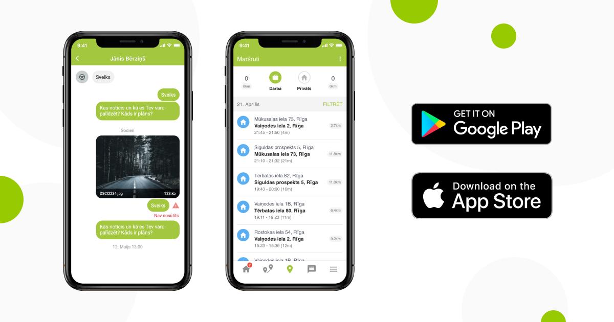 MAPON GO mobilā lietotne uzņēmumu autovadītājie komunikācijai, failu pārsūtīšanai un uzdevumu pārvaldībai