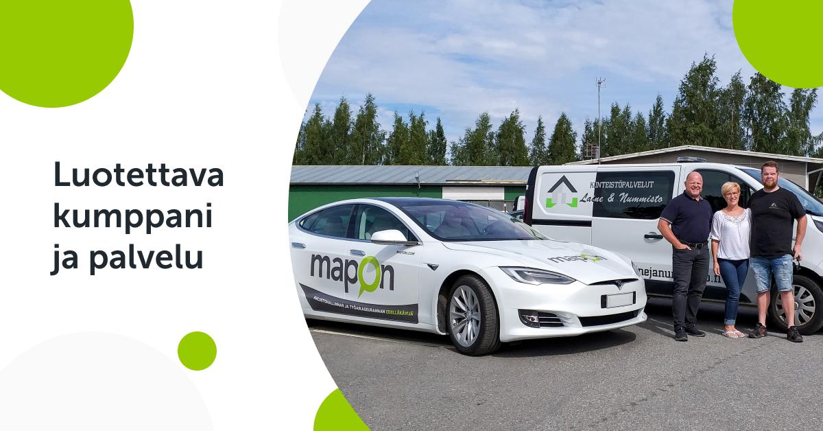 Mapon on tehokas ja vihreä valinta – Haastattelussa Kiinteistöpalvelut Laine & Nummisto Oy