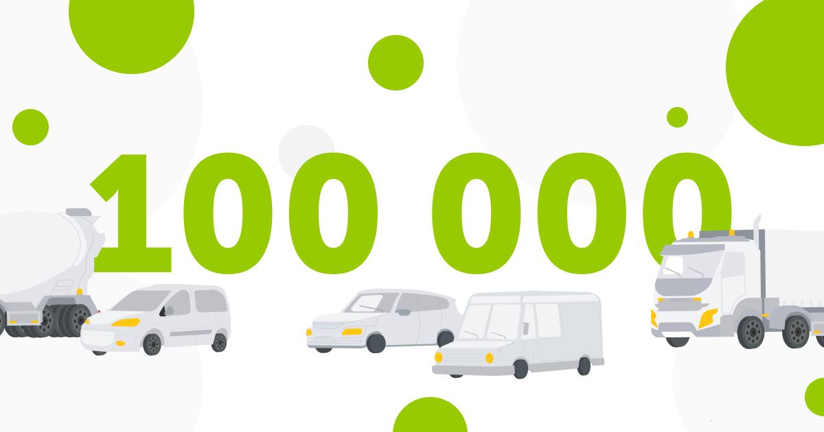 Mapon connecteert de 100.000 ste gps tracker op zijn platform voor fleet management en asset tracking