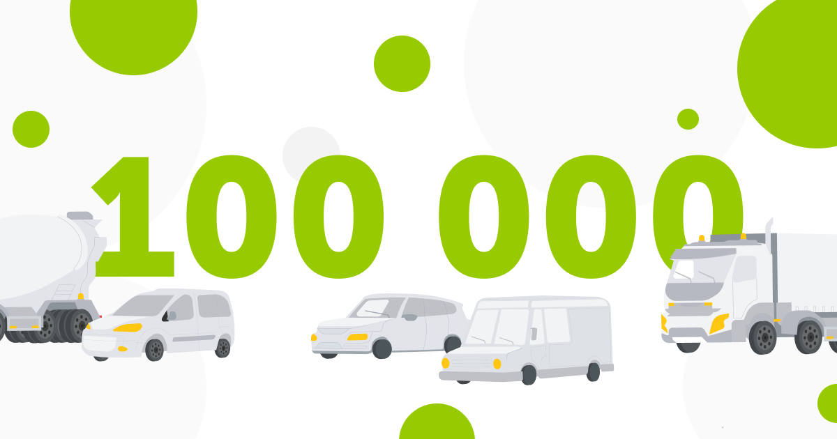 Mapon connects 100 000th tracking device to its fleet management and asset tracking platform