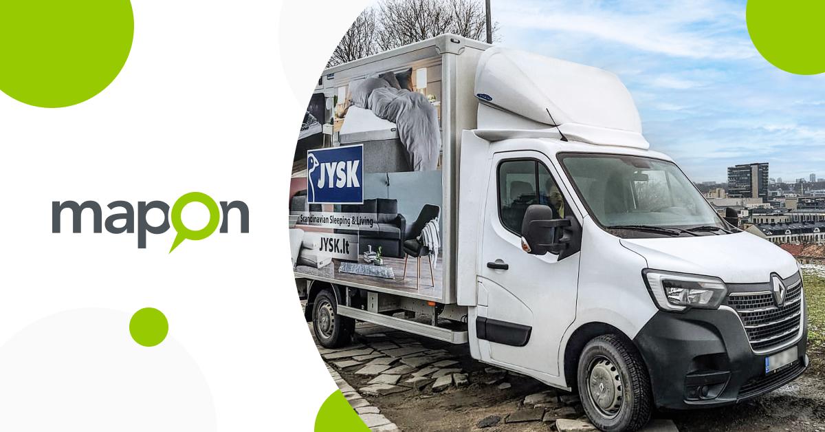JYSK: De routeplanning oplossing van Mapon helpt ons om de interne levering effectief te beheren