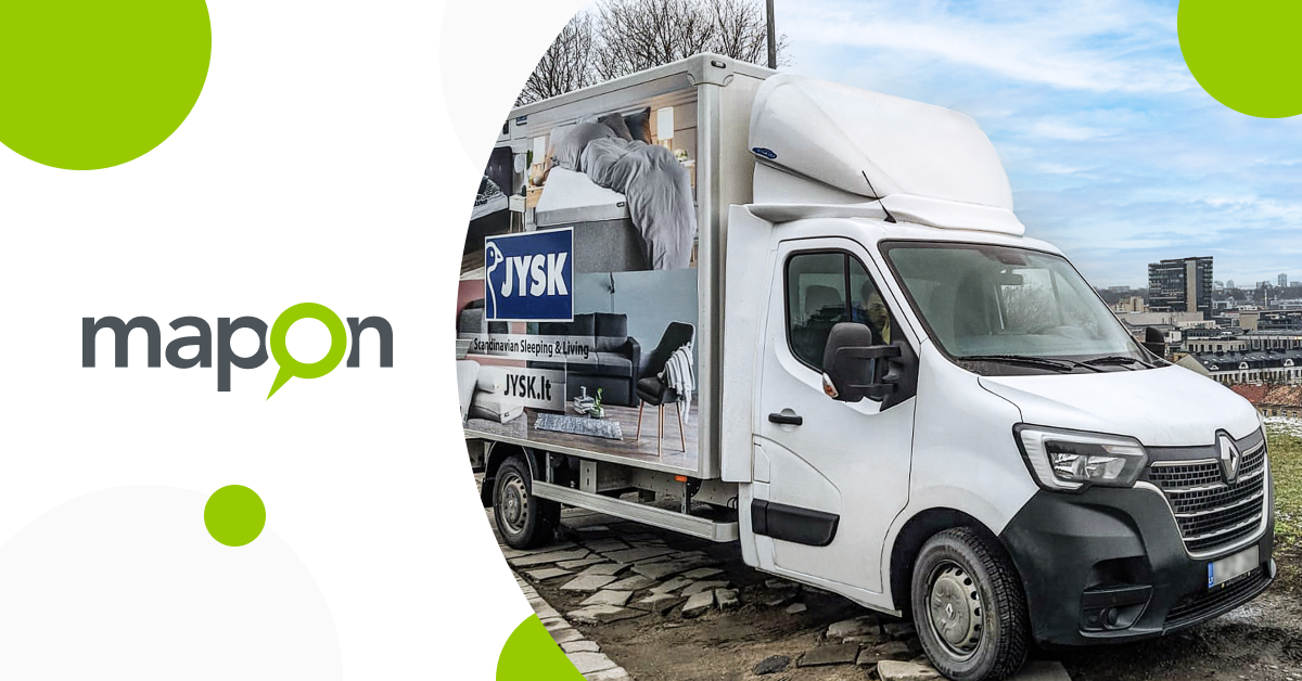 JYSK: Mapon route planning solution helps us to effectively manage in-house delivery