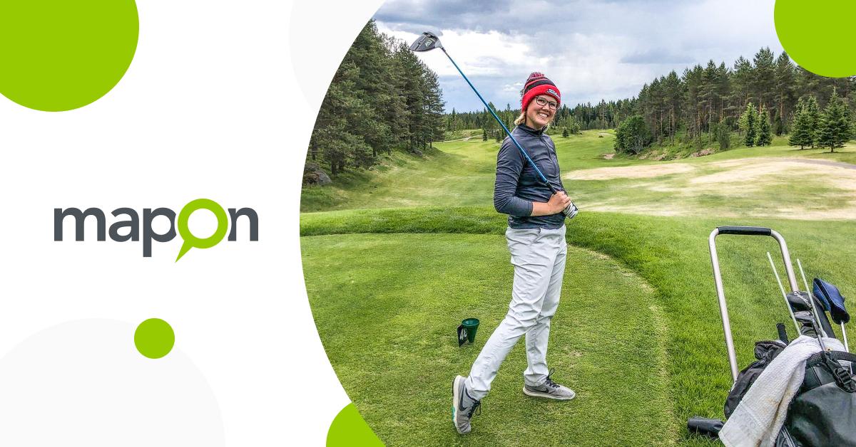 Täällä ruudun toisella puolella kirjoittaa Maponin tuore golftoimittaja Matilda Svahn
