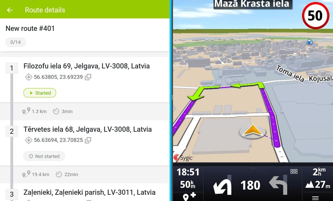 Mapon Go bestuurders app