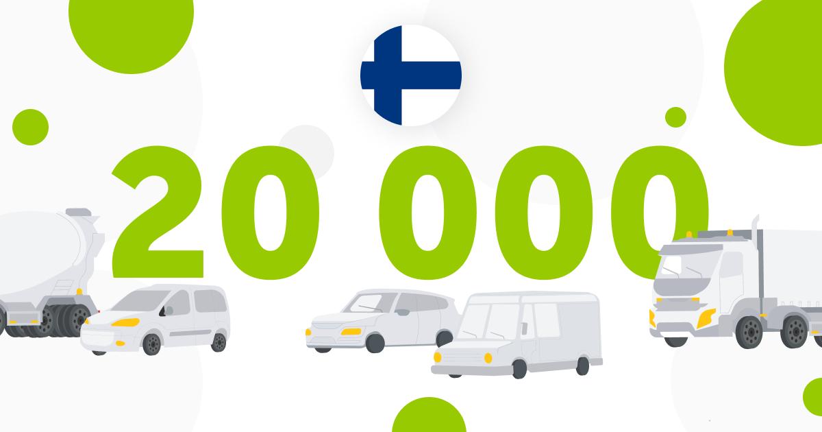 Mapon Suomi paikantaa jo 20 000 ajoneuvoa ja konetta!